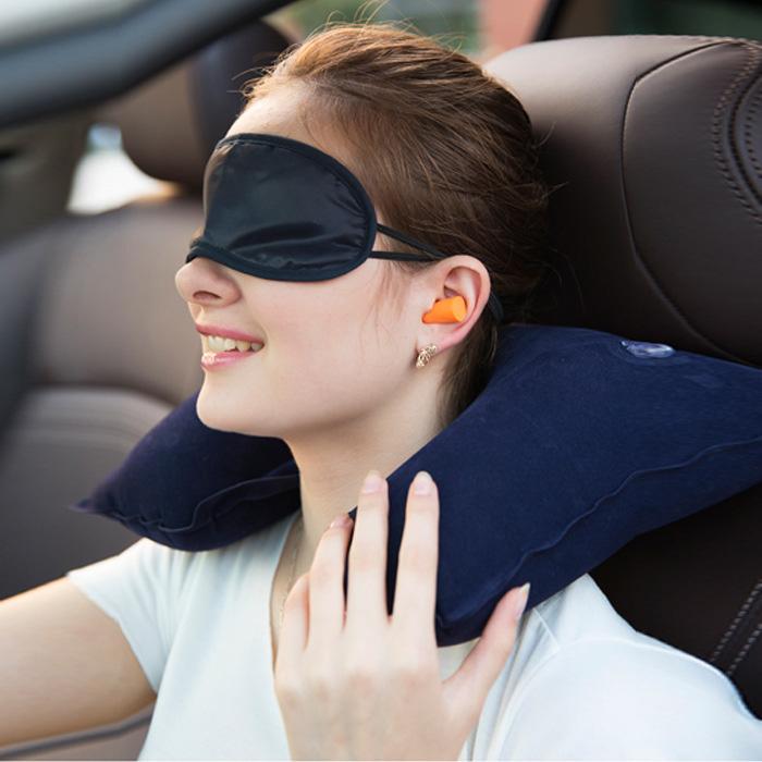 Набор путешественника 3 в 1 маска на глаза + подушка для шеи + беруши