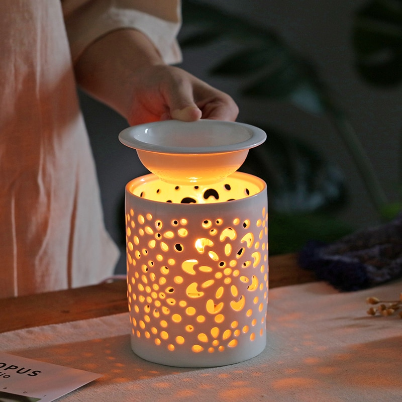 Wax Melts Warmer Electric Wax Melts Warmer Candle Lamp Oils Warmer Aroma Lamp Fragrance Lamp Essential Oil Burner Night Light|Incense & Incense Burners| - AliExpress