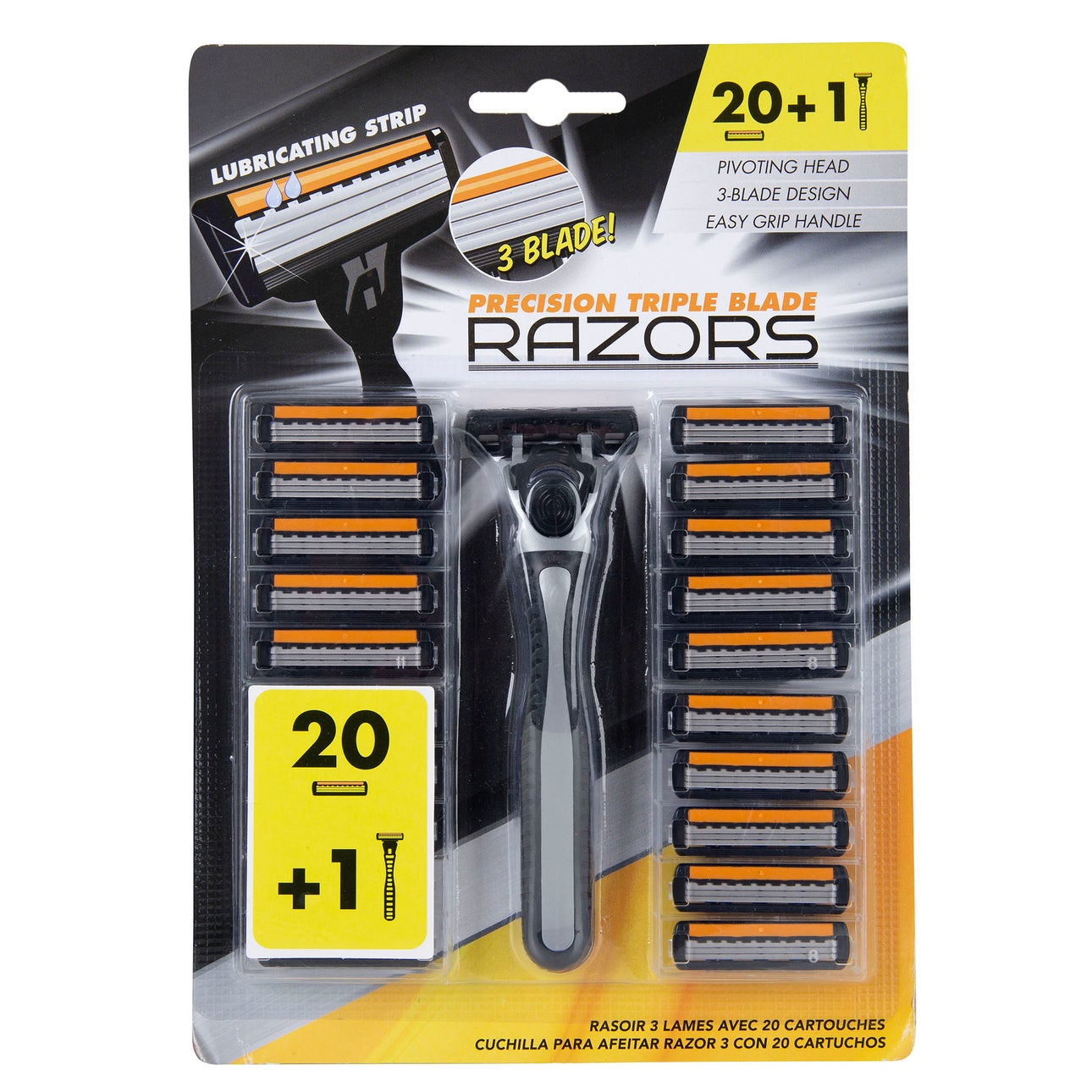 Razors 3 Blade With 20 Cartridges | Hair Removal | Product